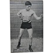 1921 Joe Rivers Exhibit Supply Co Postcard Boxing Boxer