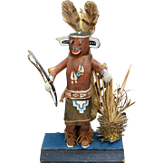 Ca 1960 Kachina Hunter w/ Bow Hopi Katsina Doll