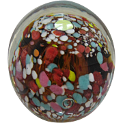 1960s Kanawha Art Glass Spatter Paperweight W. Virginia