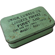 Early 1900s Union Lumber Co. Loggers 1st Aid Kit Fort Bragg Ca