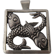Margot de Taxco Pisces Pendant Sterling Fish Zodiac Series