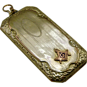 Ca 1930 Masonic Gold Filled Rectangular Locket Fob