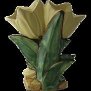 1950s McCoy Double Tulip Yellow Vase