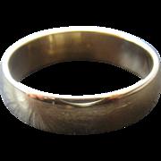 14K Gold Classic Mens Wedding Band Ring 6mm Sz 11 3/4