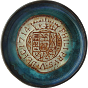 Merritt Island Pottery Coaster 1714 Spanish Coin