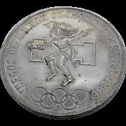 1968 Mexico Olympics .720 Silver Coin 25 Pesos