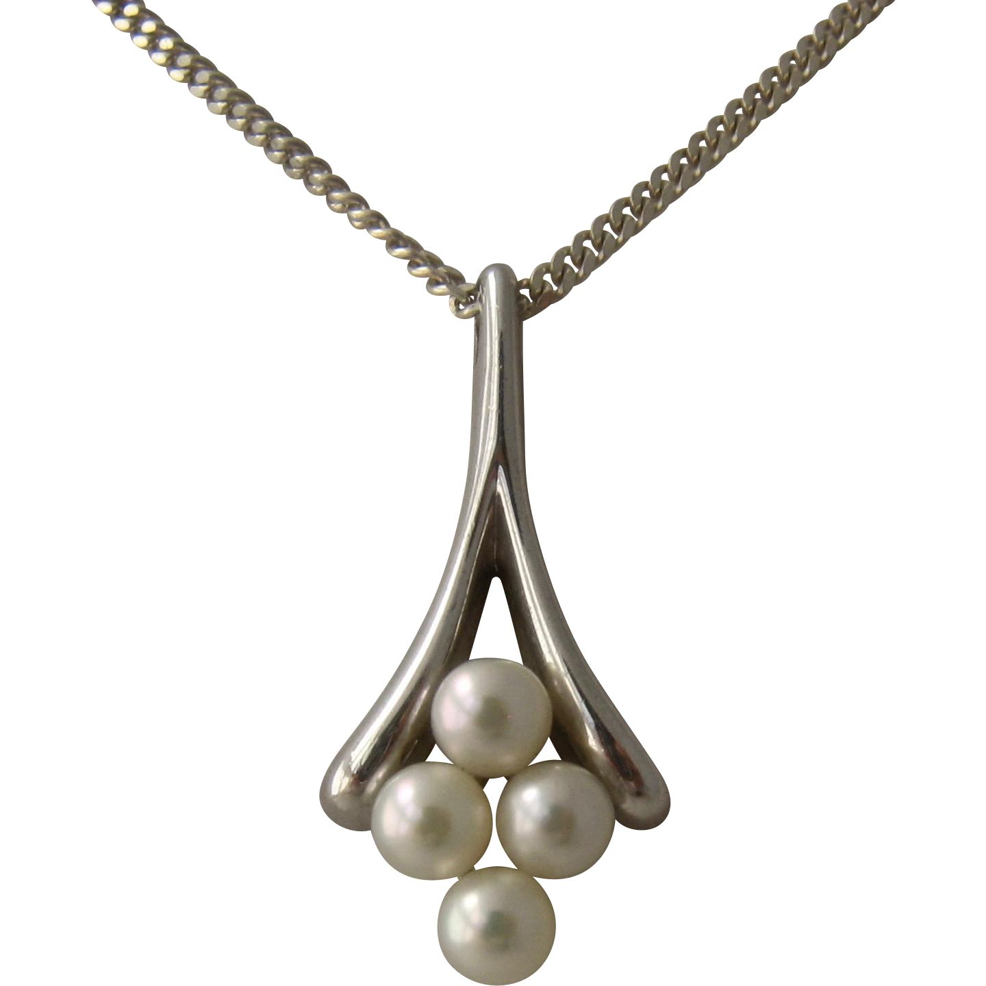 diamond necklace twist gold sea pendant jewelry white cultured mikimoto pearl south lyst