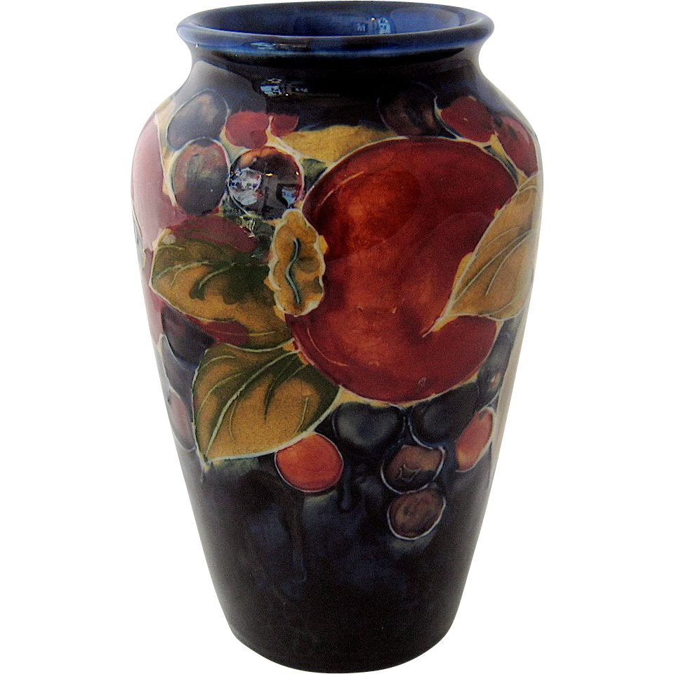 Moorcroft Pomegranate Vase Potter To The Queen From