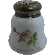 Late 1800s Mt. Washington Art Glass Hand Painted Shaker