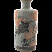 Jorge Wilmot Tonala Mexico Stoneware Fish Vase