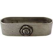 Sterling Napkin Ring w/ Applied Rose ca 1930s