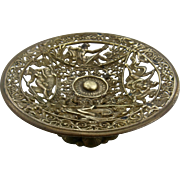Ca 1870 Neoclassical Gilded Bronze Tazza Card Holder