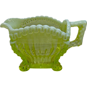 1897 Northwood Alaska Klondike Opalescent Vaseline Glass Creamer