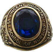 1965 School of Nursing 10K Ring St. Vincent Hospital Sz 5.5