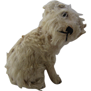 Early Steiff White Terrier Dog w/ Movable Head
