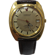 1972 Omega Constellation Electronic F300Hz Watch 18K Gold Plated