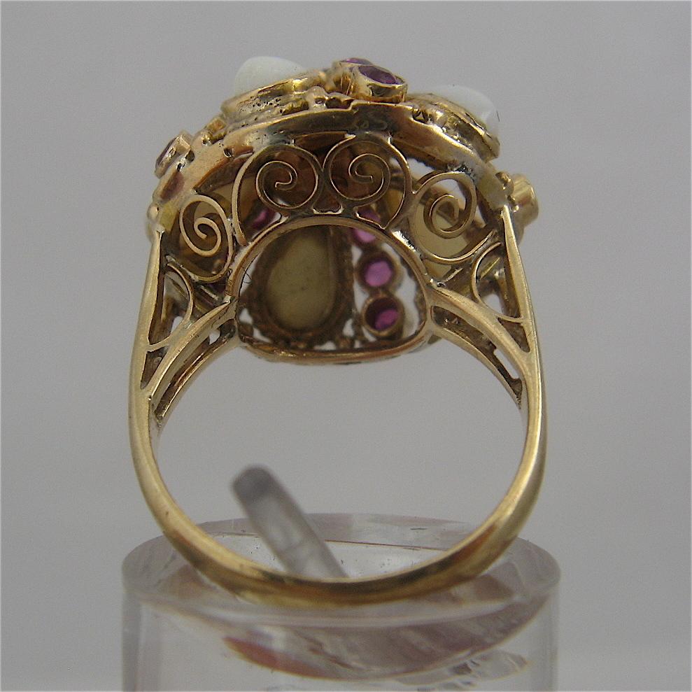 18k opals rubies thai princess harem ring sz 5 3 4 from