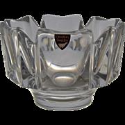 Orrefors Sweden Corona Crystal Bowl by Lars Hellsten