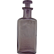 Ca 1900 The Owl Drug Co. Medicine Bottle w/Top Turned Purple