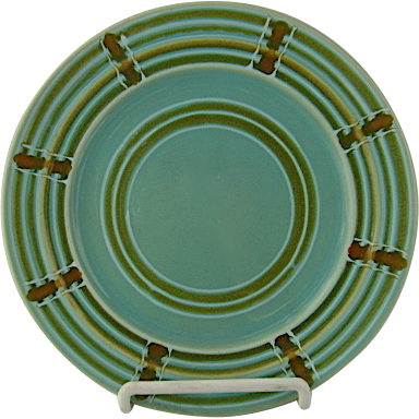 1930's Pacific Pottery Decorated ware Hostess salad plates