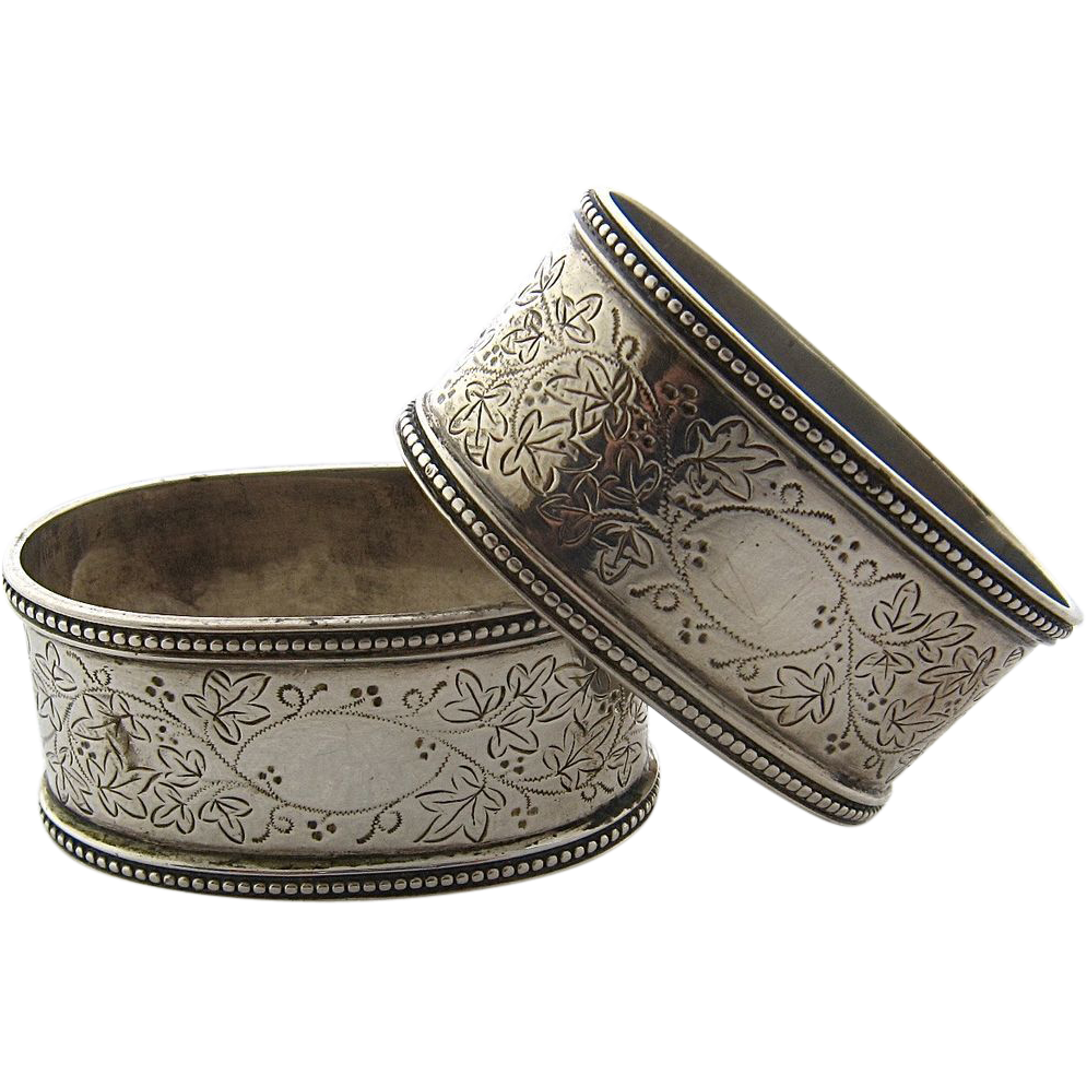 Sterling Napkin Rings Antique