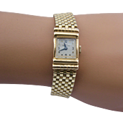 "Ca 1960 Paul Breguette 14K Case & Band Watch Wind-Up Womens 6 3/8""l"