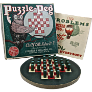 1924 Puzzle-Peg Game Complete Lubbers  & Bell