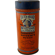 1930s Dutch Brand Motorist's Patch Kit Tin Can