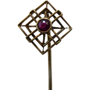 14K Ruby Windmill Geometrics Shape Stick Pin or Lapel Pin