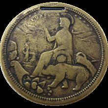 1910 San Francisco Festival Souvenir Brass Coin Fob - Red Tag Sale Item