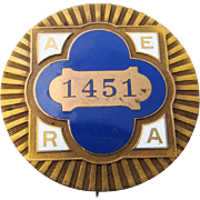 1915 AERA Convention San Francisco Enamel Badge