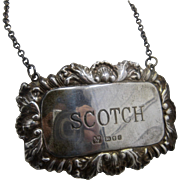 1962 British Sterling Scotch Bottle Tag Label