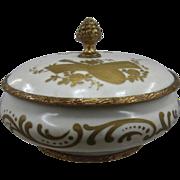 Sevres-Style Porcelain Gilt Powder Trinket Box Ormolu Mounts Ca 1900