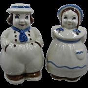 1950s Shawnee Pottery Dutch Couple Range Shakers S&P