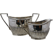 1901 Walker & Hall Sheffield Sterling Sugar & Creamer Set