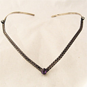 Hand Made Sterling Neck or Head Piece w/ Amethyst Topaz