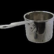 Small Vintage 950 Silver Brandy Warmer Sauce Pot