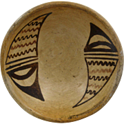 Ca 1940 Small Hopi Pottery Bowl Inside Design 5""
