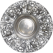 Impressive Spain Art Nouveau Silver Plate Repousse Reticulated Centerpiece Bowl 16 1/2""