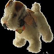 """1959 Steiff Miniature """"Foxy"""" Fox Terrier Dog w/ Tag - Red Tag Sale Item"""