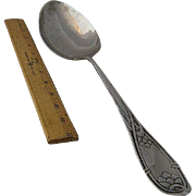 Huge 1913 Danish Silver Stuffing Spoon 15""