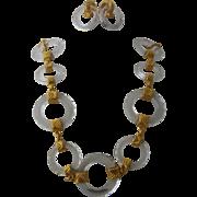 Fabulous Daniel Swarovski Paris Cosmic Rings Necklace Earrings Set