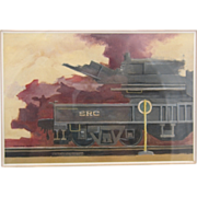 "1977 Jonathan Talbot Original Oil Painting ""SRC Train"""