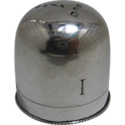 1916 English Sterling Thimble Holder James Freeman