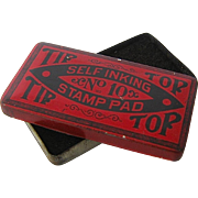 Ca 1910 Tip Top Stamp Pad Tin
