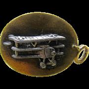 WWI Era Triplane Watch Fob or Key Chain Fob