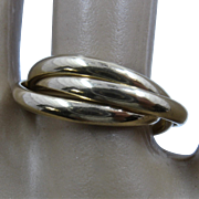 Trinity 14K Yellow Gold Rolling Ring  Sz 6.5