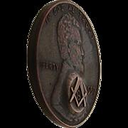 1959 Masonic Penny Stamped Free Mason Token