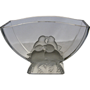 Verlys USA Frosted Glass Lovebirds Console Bowl or Vase