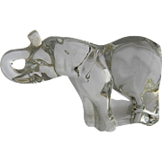 Retired Villeroy & Boch Crystal Elephant Paperweight